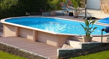 Piscines hors sol bois for Piscine hors sol wood grain